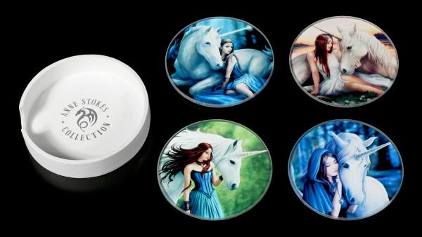 Unicorn Glass Coaster - Set of 4
