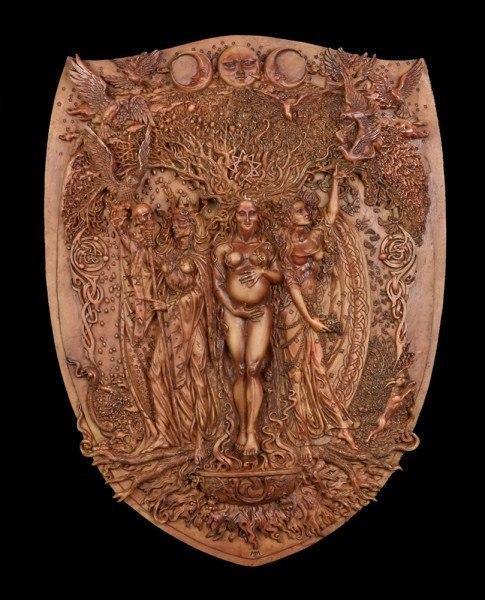 Wandrelief Wicca - Göttin der Dreifaltigkeit