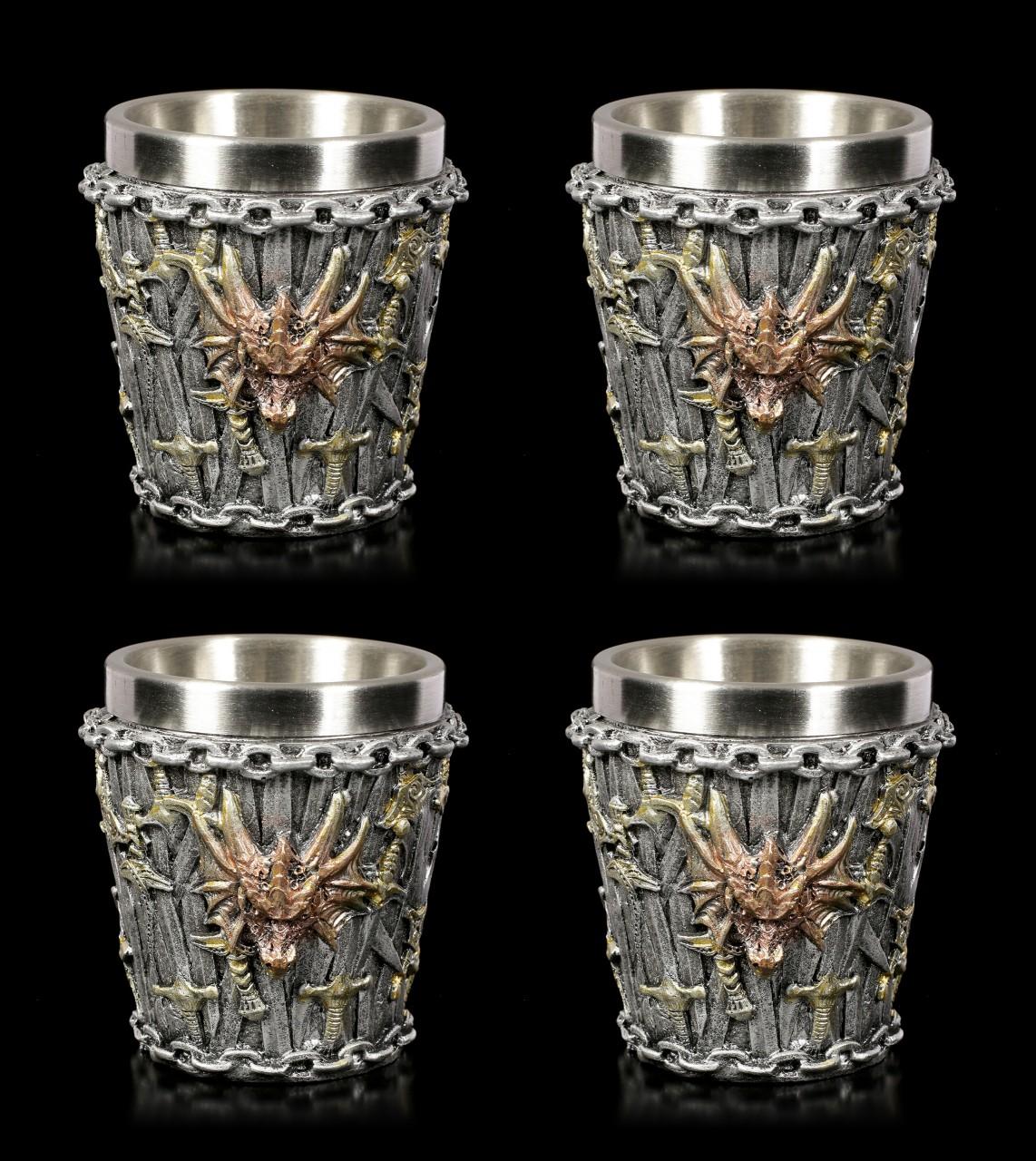 Drachen Schnapsbecher 4er Set - Dragon Kingdom