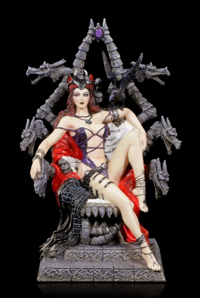 Witch Figurine on Throne