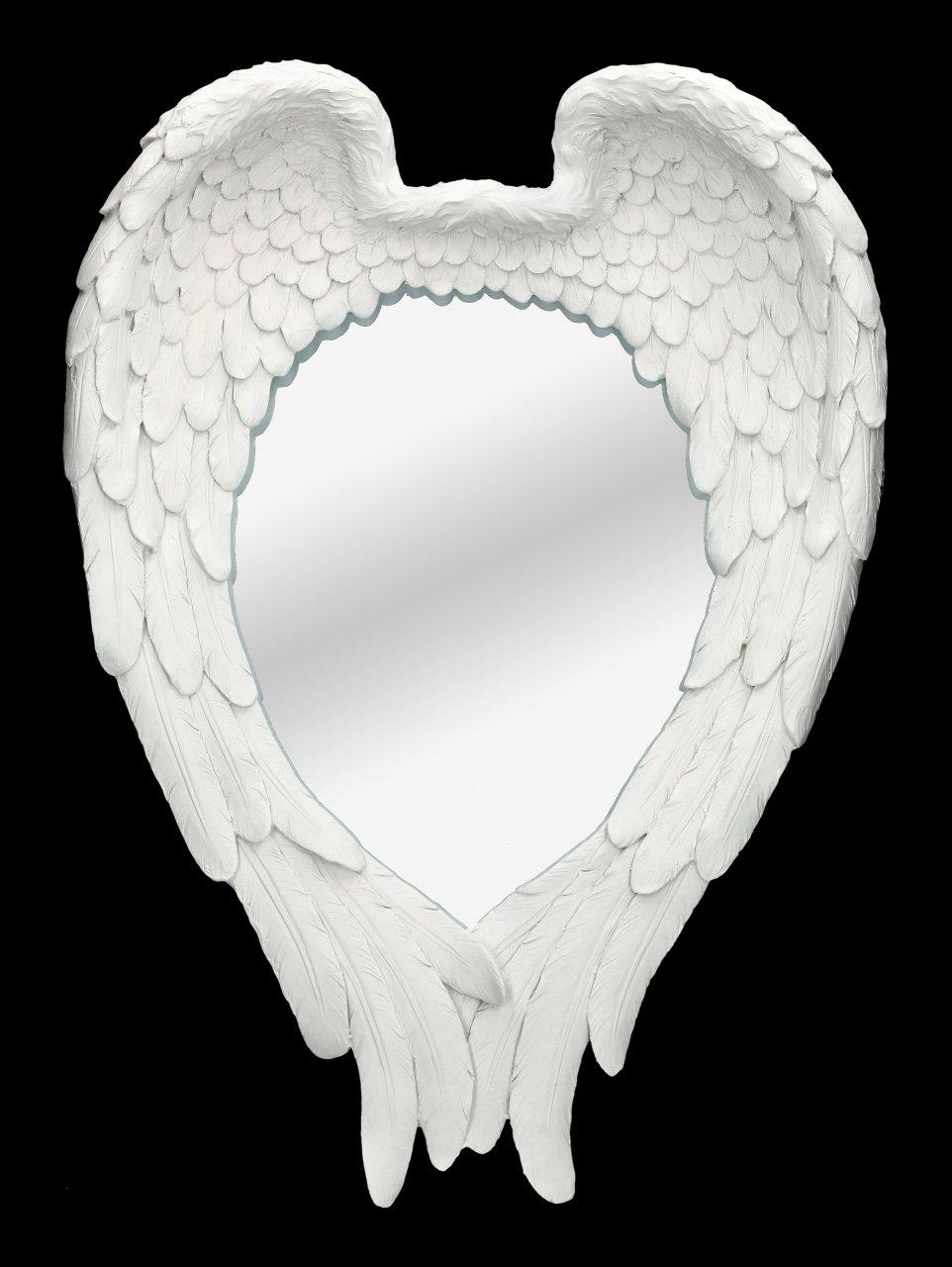 Wall Mirror - Angel Wings white