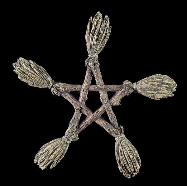 Wall Plaque - Witch Broom Pentagram