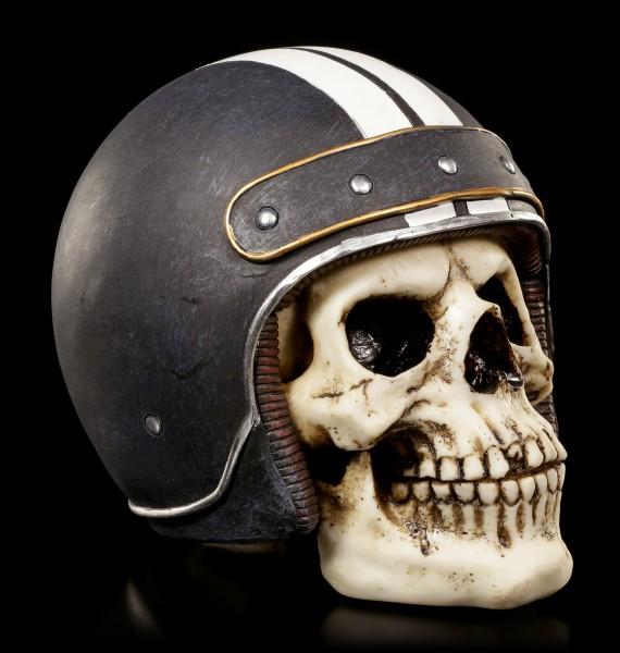 Totenkopf mit Helm - Cafe Racer