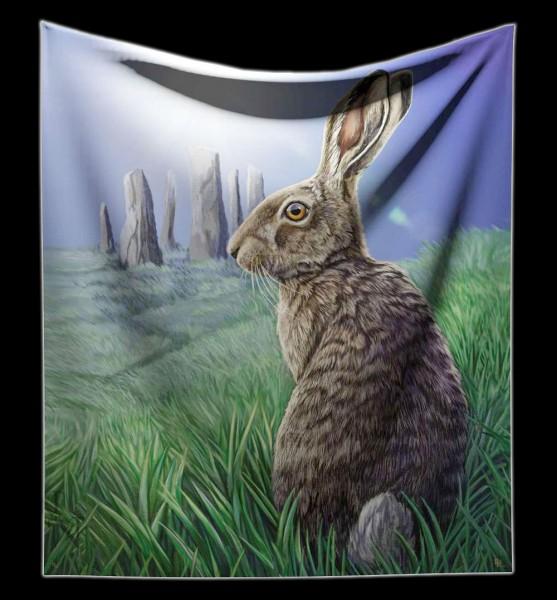 Kuscheldecke Wicca Hase - Solstice von Lisa Parker