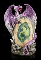 Dragon Figurine - Zemas on Egg with LED