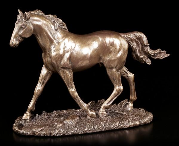 Vorschau: Pferde Figur - Pferd auf Weide - bronziert