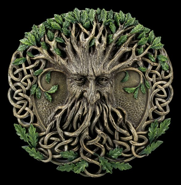 Wall Plaque Greenman - Magic Forest