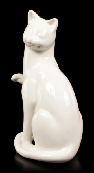 Porzellan Katze - Sitzend