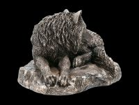 Wolf Figur - Guardian of the North - bronziert