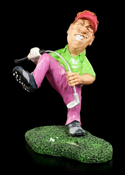 Golf Player Figurine breaks his Club - Aaarrrg