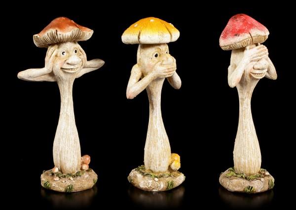 Pilz Männchen Figuren Set - Nichts Böses