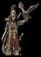 Athena Figur - Mit Speer und Eule