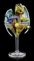 Dragon Figurine - Martini by Stanley Morrison