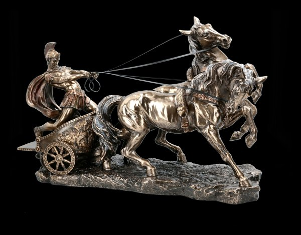 Large Roman with Chariot Statue