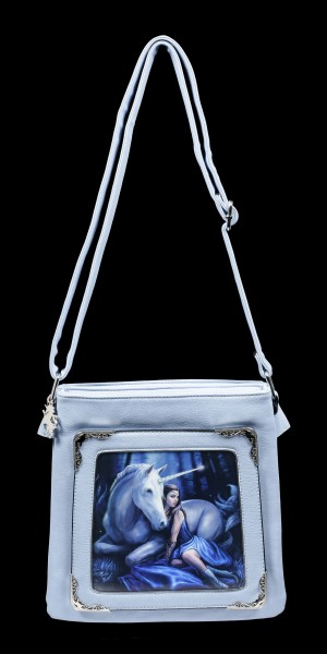3D Schultertasche mit Einhorn - Blue Moon