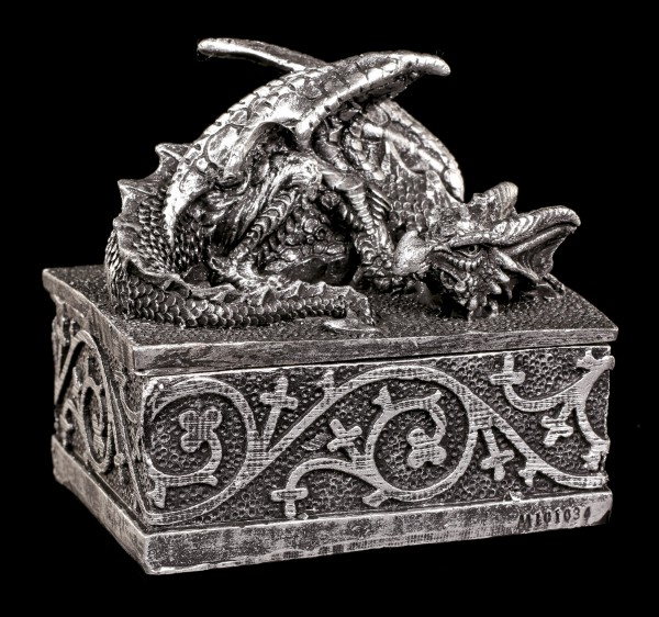 Dragon Box - My Treasures - Silver colored