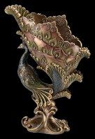 Art Nouveau Bowl with raised Peacock