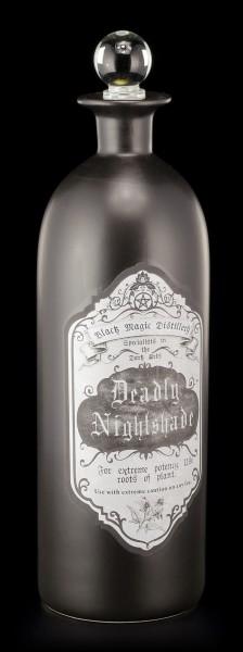 Deko Flasche Groß - Tollkirsche