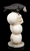 Raven on Skulls with LED
