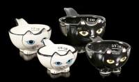 Messbecher Set - Schwarze und weiße Katzen