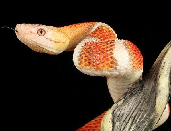 Schlangen Figur - Kupferkopf