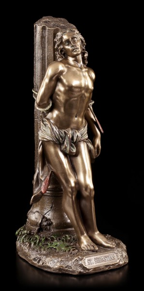 Vorschau: Heiliger Sebastian Figur - Gefesselt an Säule