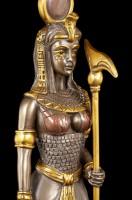 Ägyptische Krieger Figur - Hathor - Bronziert