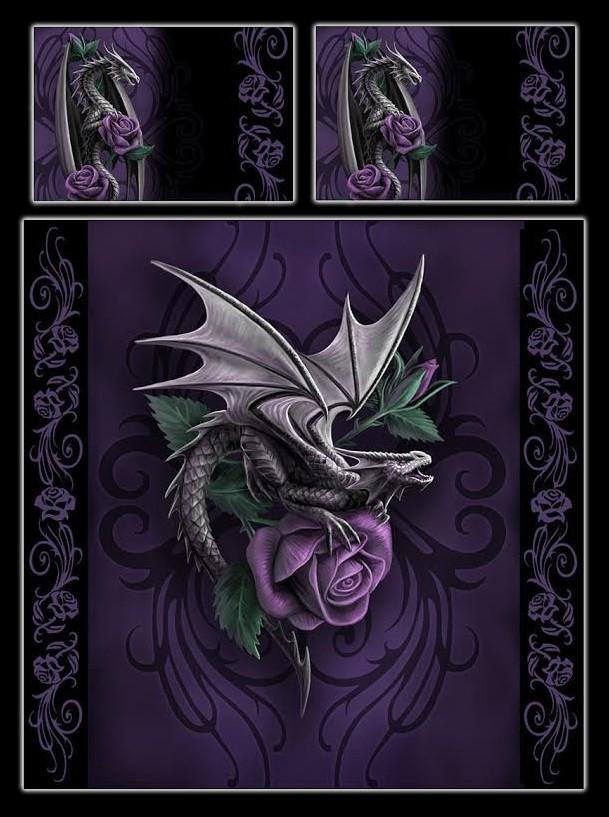 Drachen Doppel Bettwäsche Dragon Beauty By Anne Stokes