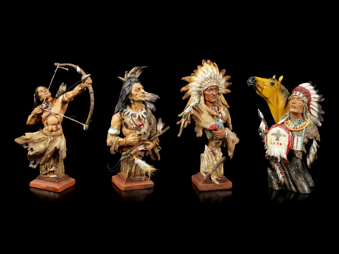 Indianer Figuren - 4er Set