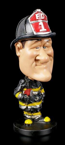 Funny Job Figurine - Bobblehead Fire Fighter