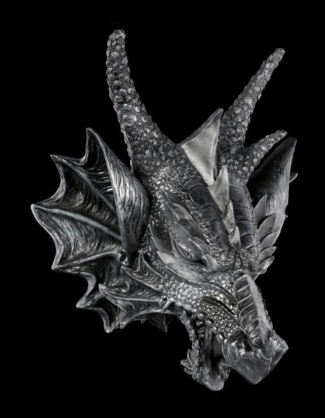 Wandrelief - Drachen Schädel mit LED