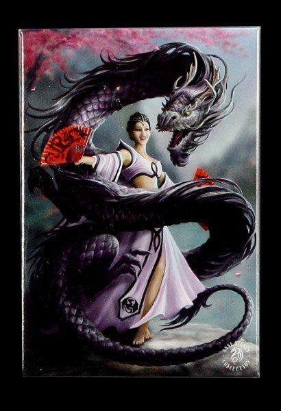 Magnet mit Drache - Dragon Dancer by Anne Stokes