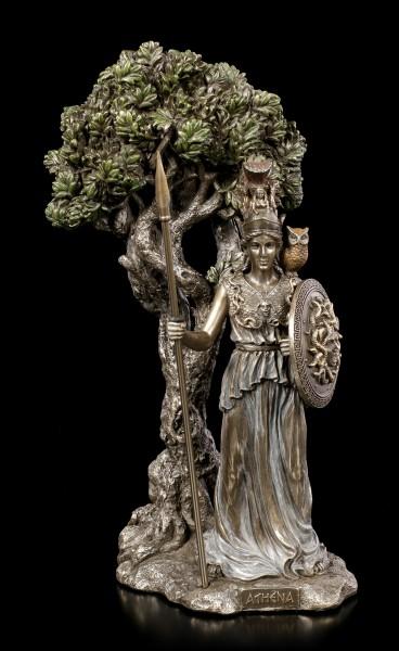 Athena Figurine under sacred Olive Tree