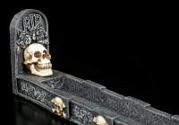 Totenkopf Räucherstäbchenhalter - RIP