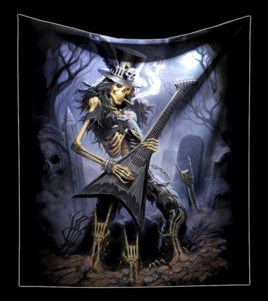 Kuschelige Decke mit Skelett - Play Dead