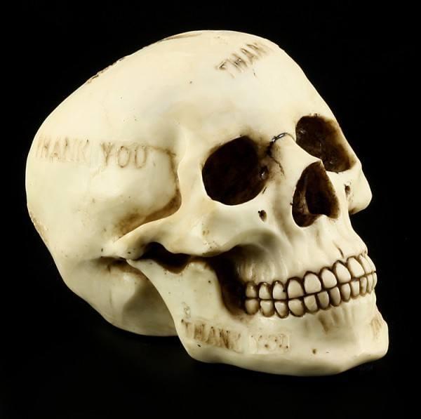 Skull Savings Box - Thank you