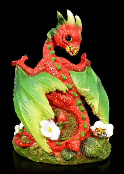 Strawberry Dragon Figurine by Stanley Morrison