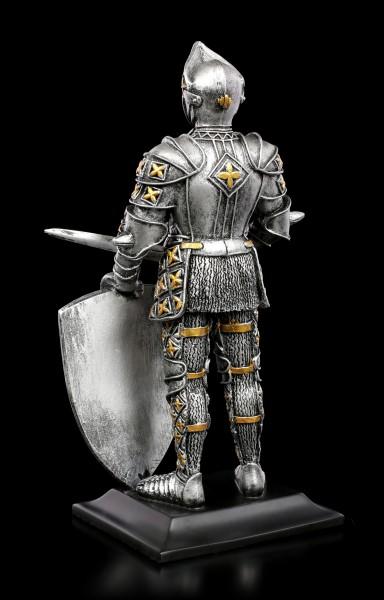 Ritter Figur mit Schwert und Löwenschild