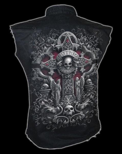 Ärmelloses Worker Shirt - In Goth We Trust