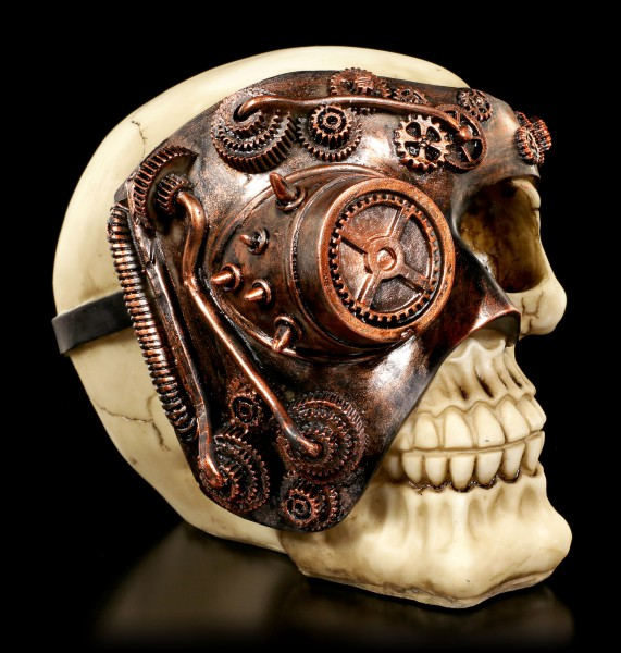 Skull with Steampunk Mask - Monocle Man