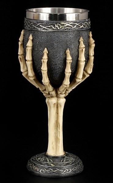 Skeleton Hands Goblet with Tribals