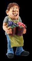 Funny Jobs Figurine - Gardener with Flowers