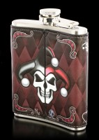Hip Flask with Harlequin - Dark Jester