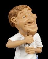Funny Job Figur - Apotheker mit Mörser