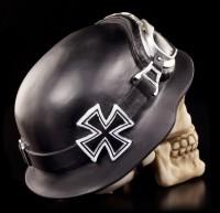 Skull - Iron Cross with Bikerhelmet