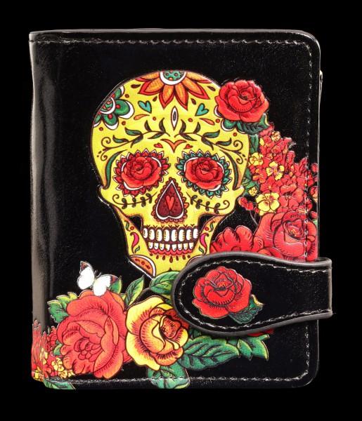 Kleine Geldbörse mit Totenkopf - Candy Skull