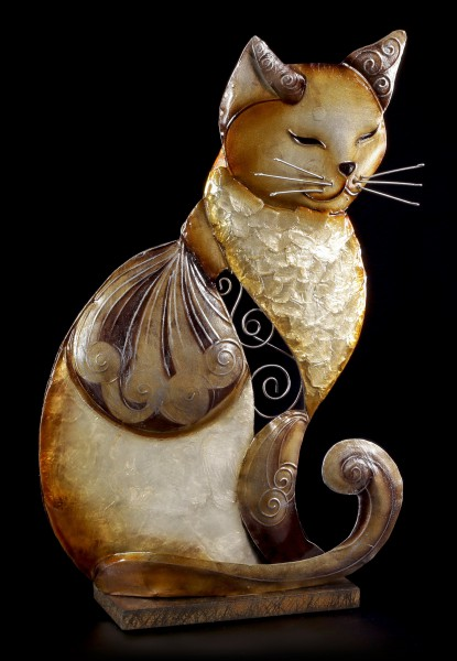 Metal Figurine - Relaxed Cat