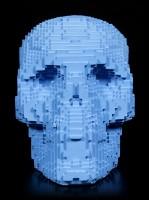 Pixel Skull - blue