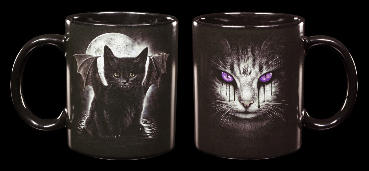 Gothic Tassen - Katzentränen - 2er Set