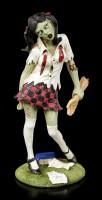 Zombie Figurine - Schoolgirl with severed Arm